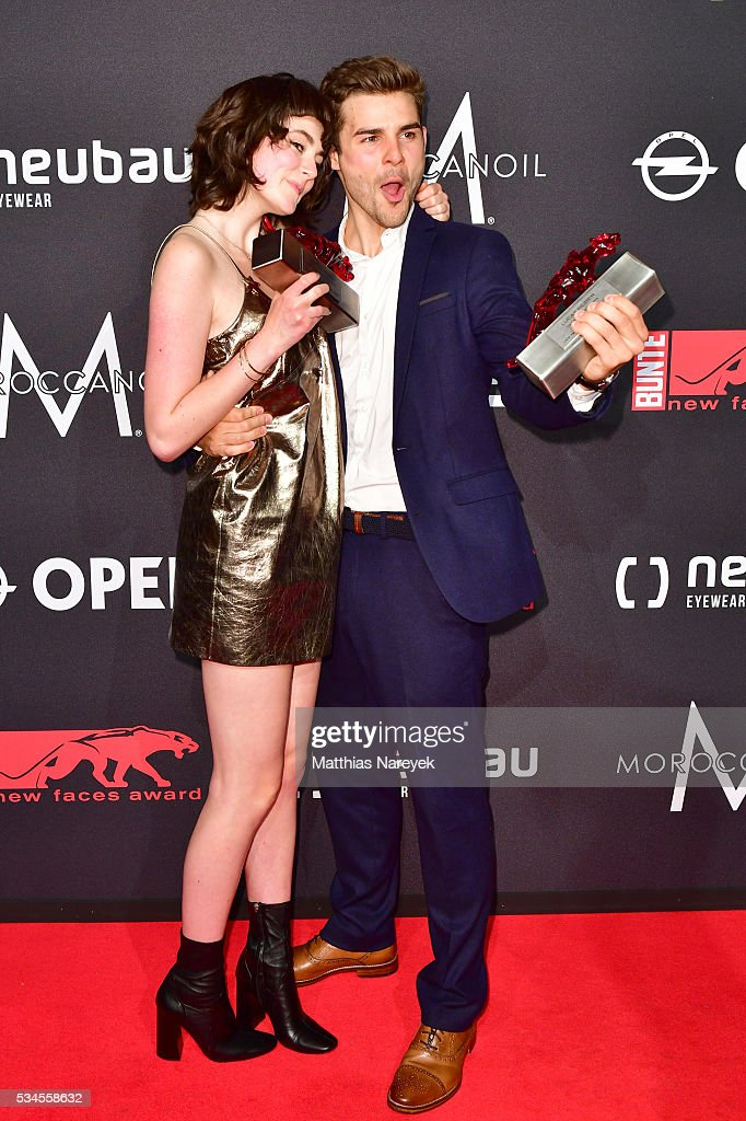 Lucas Schreiber and Lea van Acken during the New Faces Award Film 2015 at ewerk on May 26, 2016 in Berlin, Germany.