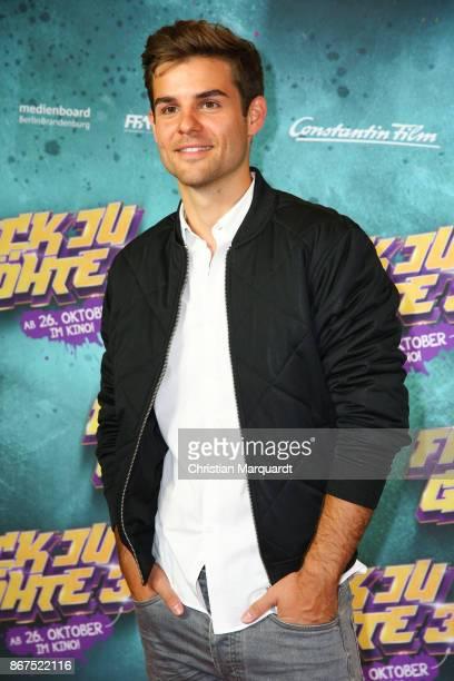Lucas Reiber attends the 'Fack ju Goehte 3' premiere at CineStar on October 28 2017 in Berlin Germany