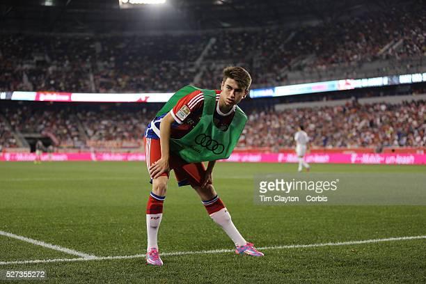 Lucas Scholl Bayern Munich warming up during the FC Bayern Munich vs Chivas Guadalajara friendly football match at Red Bull Arena New Jersey USA 31st...