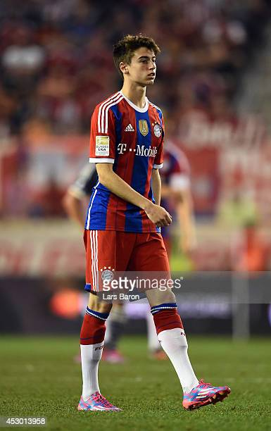 Lucas Scholl of Muenchen is seen during the friendly match between CD Guadalajara and FC Bayern Muenchen at Red Bull Arena on July 31 2014 in New...