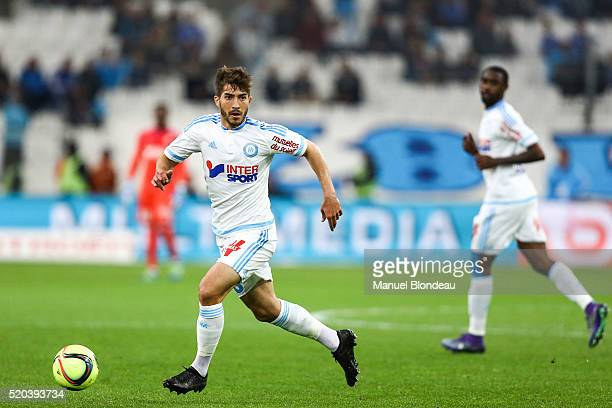 Lucas Silva of Marseille during the French League 1 match between Olympique de Marseille and FC Girondins de Bordeaux at Stade Velodrome on April 10...