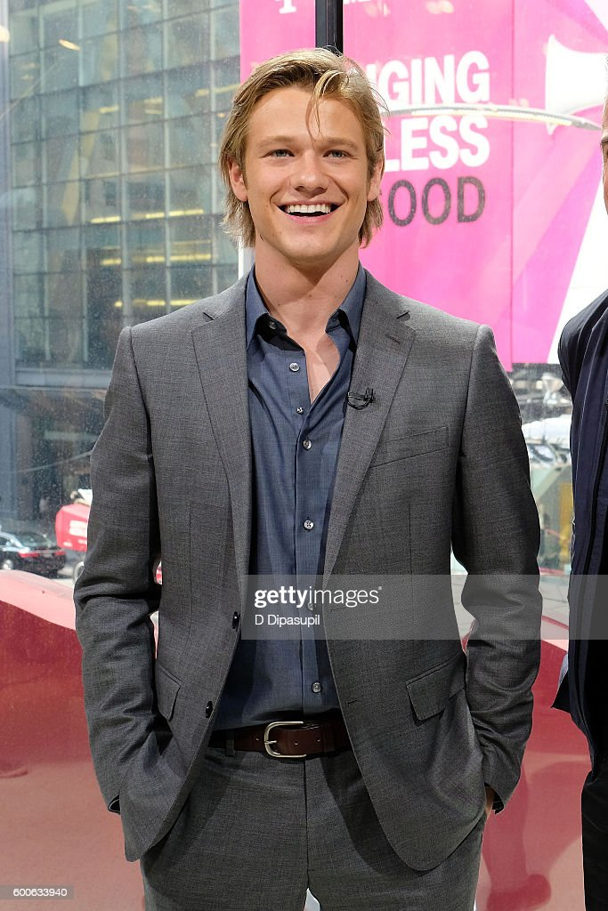 """Lucas Till & George Eads Visit """"Extra"""""""