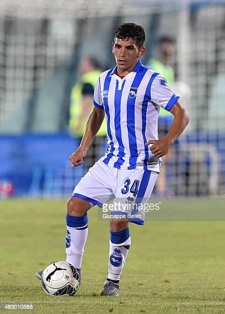 Lucas Torreira of Pescara in action during the preseason friendly match between Pescara Calcio and US Sassuolo Calcio at Adriatico Stadium on August...