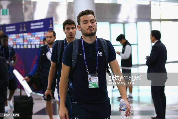 Lucas Tousart of France arrives for the FIFA U20 World Cup Korea Republic 2017 group E match between New Zealand and France at Daejeon World Cup...