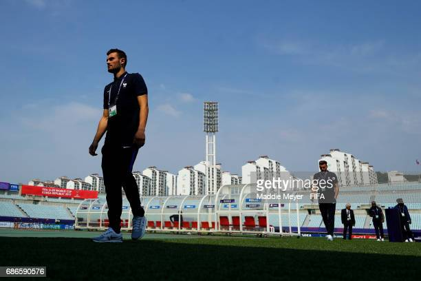 Lucas Tousart of France walks to the locker room before the FIFA U20 World Cup Korea Republic 2017 group E match between France and Honduras at...