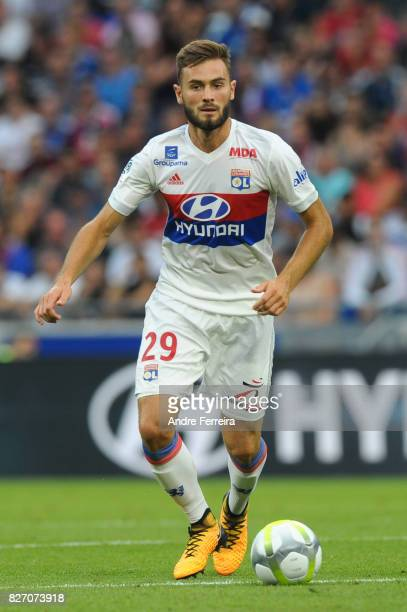 Lucas Tousart of Lyon during the Ligue 1 match between Olympique Lyonnais and Strasbourg at Parc Olympique on August 5 2017 in Lyon