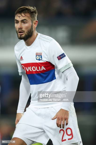 Lucas Tousart of Olympique Lyonnais during the UEFA Europa League group E match between Everton FC and Olympique Lyon at Goodison Park on October 19...