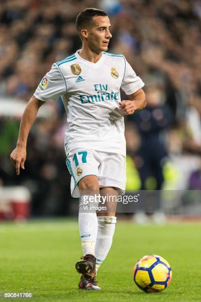 Lucas Vazquez Iglesias of Real Madrid during the La Liga Santander match between Real Madrid CF and Sevilla FC on December 09 2017 at the Santiago...