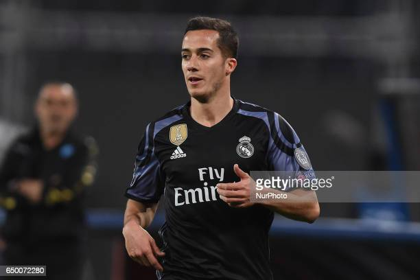 Lucas Vazquez of Real Madrid CF during the UEFA Champions League match between SSC Napoli and Real Madrid at Stadio San Paolo Naples Italy on 7 March...