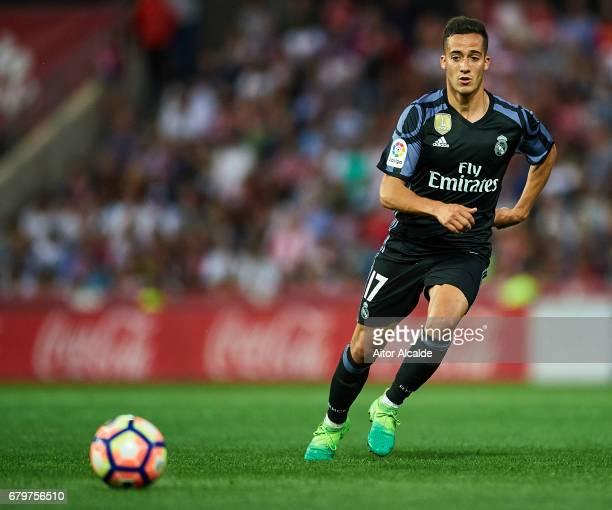 Lucas Vazquez of Real Madrid CF in action during the La Liga match between Granada CF v Real Madrid CF at Estadio Nuevo Los Carmenes on May 6 2017 in...