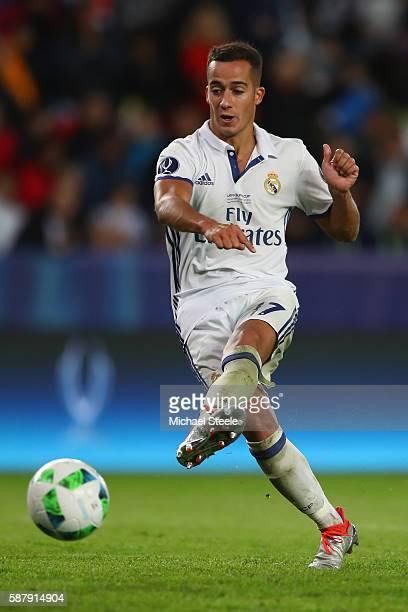 Lucas Vazquez of Real Madrid during the UEFA Super Cup match between Real Madrid and Sevilla at Lerkendal Stadium on August 9 2016 in Trondheim Norway