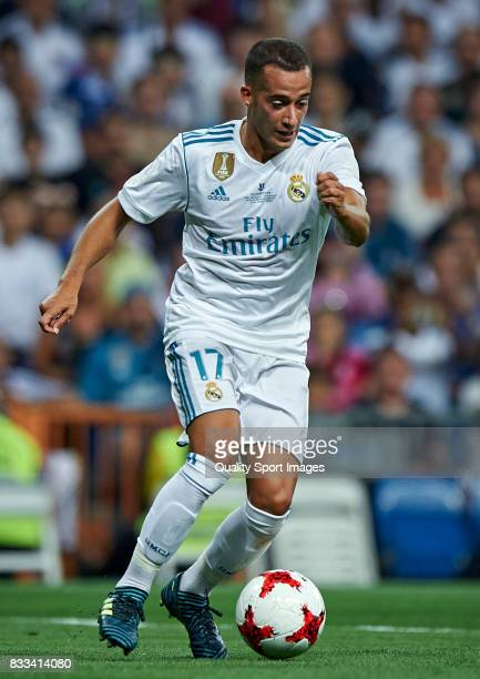 Lucas Vazquez of Real Madrid in action during the Supercopa de Espana Supercopa Final 2nd Leg match between Real Madrid and FC Barcelona at Estadio...