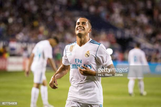 Lucas Vazquez of Real Madrid runs down after a missed shot on goal during the MLS All Star match between the MLS All Stars and Real Madrid at the...