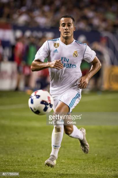 Lucas Vazquez of Real Madrid runs down the ball during the MLS AllStar match between the MLS AllStars and Real Madrid at the Soldier Field on August...