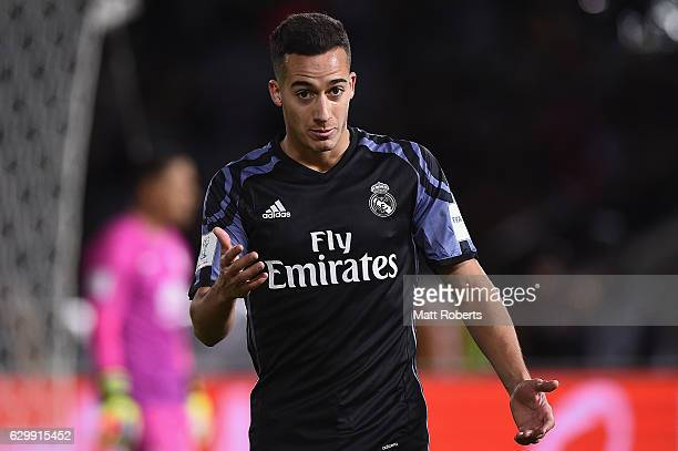 Lucas Vazquez reacts during the FIFA Club World Cup Japan semifinal match between Club America v Real Madrid at International Stadium Yokohama on...