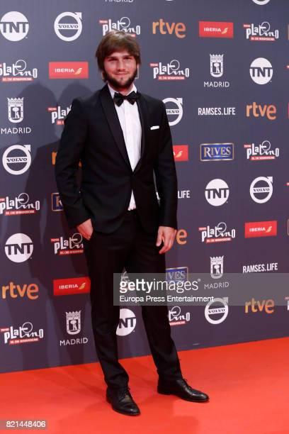 Lucas Vidal attends Platino Awards 2017 at La Caja Magica on July 22 2017 in Madrid Spain