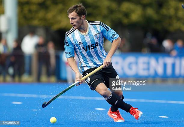 Lucas Vila of Argentina drives the ball during an International Friendly match between Argentina and Ireland at CenARD on July 23 2016 in Buenos...