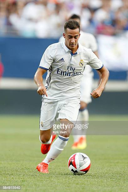 Lucas Vázquez of Real Madrid CF controls the ball during the game against Paris SaintGermain FC on July 27 2016 at Ohio Stadium in Columbus Ohio