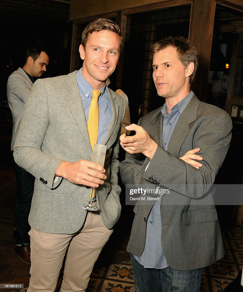 Lucas Webb and John Nein attend Grey Goose hosted Sundance London Filmmaker Dinner at Little House on April 24, 2013 in London, England.