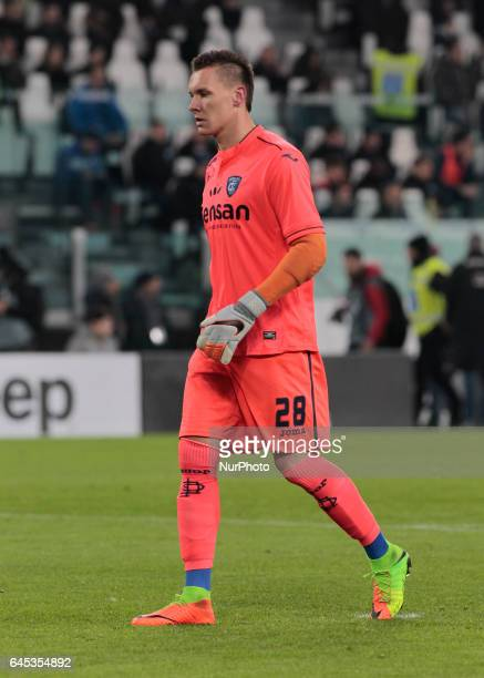 Lucasz Skorupski during Serie A match between Juventus v Empoli in Turin on February 25 2017