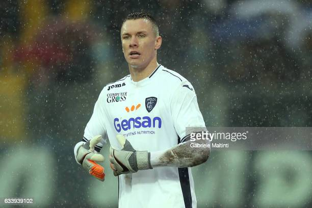 Lucasz Skorupski of Empoli Fc in action during the Serie A match between Empoli FC and FC Torino at Stadio Carlo Castellani on February 5 2017 in...