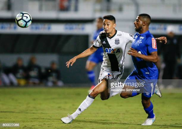 Lucca of Ponte Preta and Lennon of Cruzeiro in action during the match between Ponte Preta and Cruzeiro for the Brasileirao Series A 2017 at Moises...