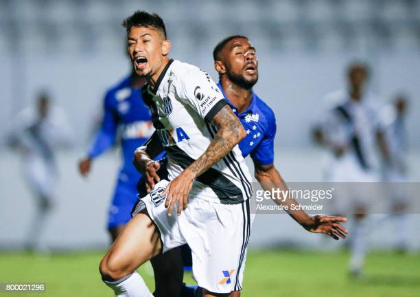 Lucca of Ponte Preta in action during the match between Ponte Preta and Cruzeiro for the Brasileirao Series A 2017 at Moises Zucarelli Stadium on...