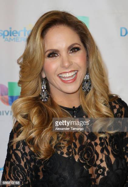 Lucero is seen on the set of 'Despierta America' at Univision Studios on May 22 2017 in Miami Florida