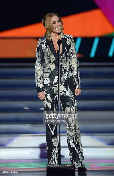 Lucero onstage at Telemundo's 'Premios Tu Mundo' Awards 2015 at American Airlines Arena on August 20 2015 in Miami Florida