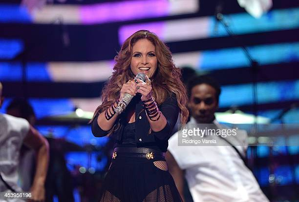 Lucero performs at Premios Tu Mundo Awards at American Airlines Arena on August 21 2014 in Miami Florida