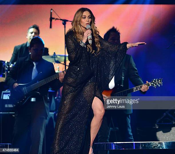 Lucero performs at the 2015 Billboard Latin Music Awards presented by State Farm on Telemundo at Bank United Center on April 30 2015 in Miami Florida