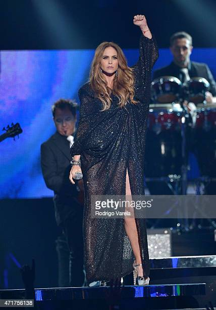 Lucero performs onstage at the 2015 Billboard Latin Music Awards presented bu State Farm on Telemundo at Bank United Center on April 30 2015 in Miami...