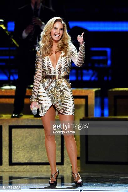 Lucero performs onstage during Univision's 29th Edition Of Premio Lo Nuestro A La Musica Latina at the American Airlines Arena on February 23 2017 in...