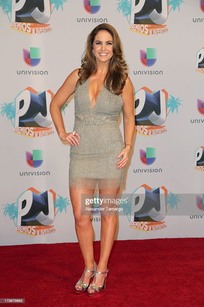 Lucero poses in the press room during the Premios Juventud 2013 at Bank United Center on July 18, 2013 in Miami, Florida.