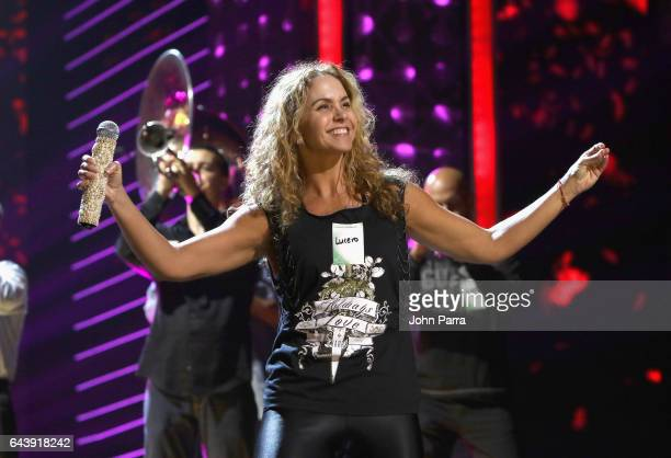 Lucero rehearses on stage at Univision's 29th Edition Of Premio Lo Nuestro A La Musica Latina Rehearsals Day 3 on February 22 2017 in Miami Florida