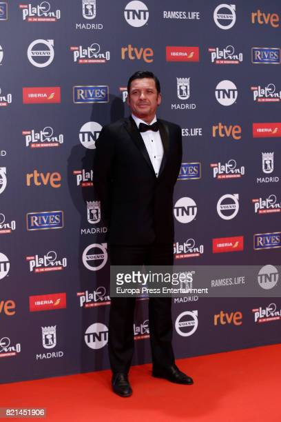 Lucho Caceres attends Platino Awards 2017 at La Caja Magica on July 22 2017 in Madrid Spain