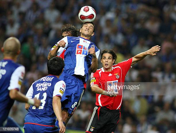 Lucho Gonzalez and Nuno Gomes during the Champions league match between FC Porto and SL Benfica at Dragao Stadium in Porto Portugal on October 28 2006