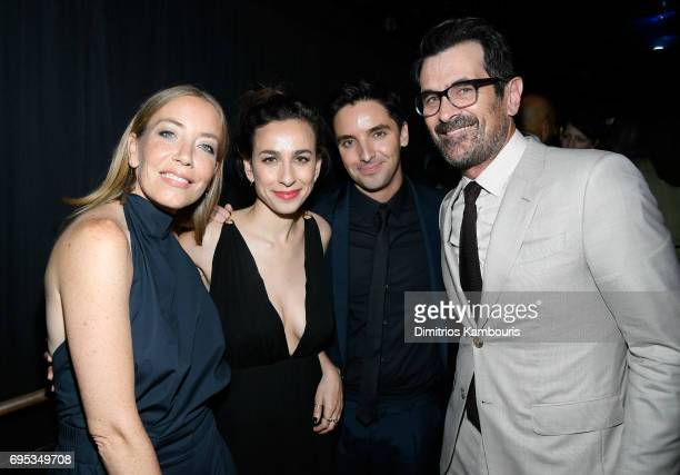 Lucia Aniello Paul Downs and Ty Burrell attend the after party for the 'Rough Night' Premiere at Diamond Horseshoe on June 12 2017 in New York City