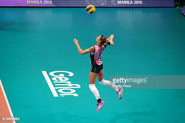 Lucia Bossetti jump serves against ManilaPSL at the Arena in Pasay City Pomi Cassalmaggiore won in straight sets over Manila PSLF2 Logistiscs at the...