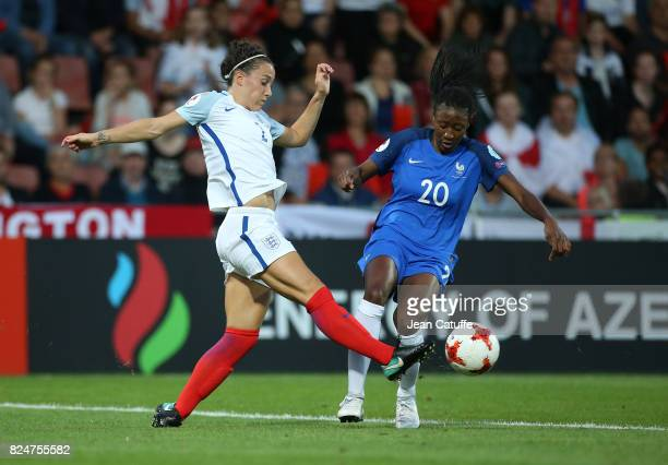 Lucia Bronze of England and Kadidiatou Diani of France during the UEFA Women's Euro 2017 quarter final match between England and France at Stadion De...