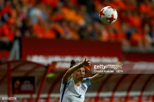 Lucia Bronze of England does a throwin during the UEFA Women's Euro 2017 Second Semi Final match between Netherlands and England at De Grolsch Veste...