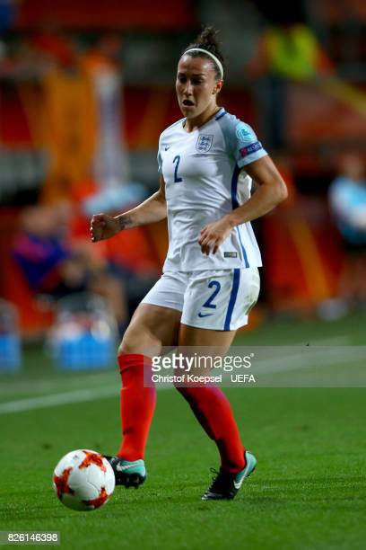 Lucia Bronze of England runs with the ball during the UEFA Women's Euro 2017 Second Semi Final match between Netherlands and England at De Grolsch...