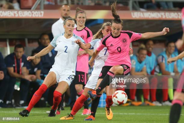 Lucia Bronze of England women Jordan Nobbs of England women Caroline Weir of Scotland women during the UEFA WEURO 2017 Group D group stage match...