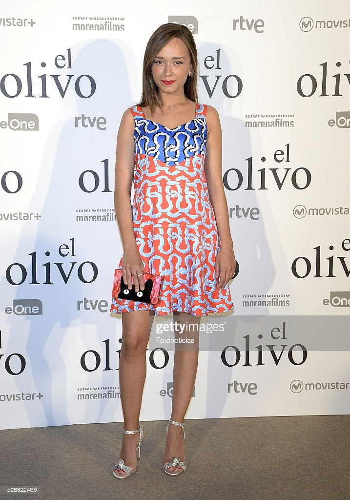 Lucia de la Fuente attends the premiere of 'El Olivo' at the Capitol cinema on May 4, 2016 in Madrid, Spain.