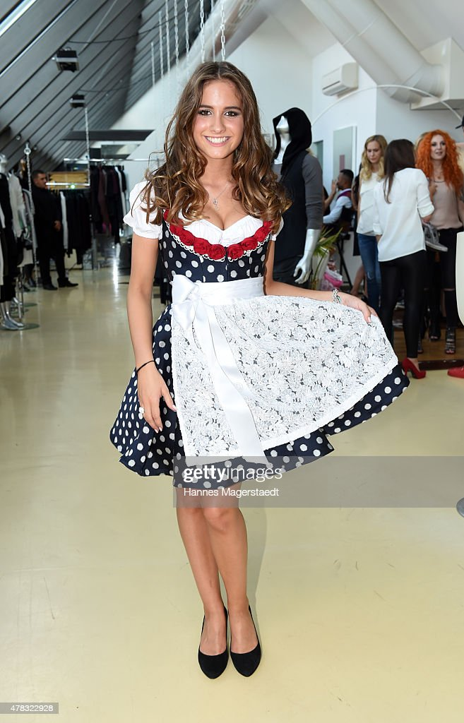 Lucia Effenberg attends the 'Claudia Effenberg's Dirndl Launch Party' on June 24 2015 in Munich Germany