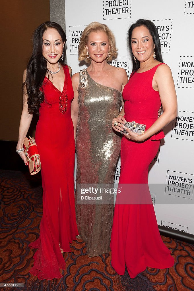 Lucia Hwong Gordon, Pamela Morgan, and Cassandra Seidenfeld attend the Women Project Theater's 2014 Women Of Achievement Gala at the Mandarin Oriental Hotel on March 10, 2014 in New York City.