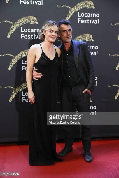 Lucia Mascino and Thomas Trabacchi attend 'Amori che non sanno stare al mondo' screening during the 70th Locarno Film Festival on August 6 2017 in...