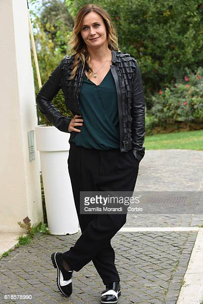 Lucia Mascino attends a photocall for 'La Pelle Dell'Orso' on October 27 2016 in Rome Italy