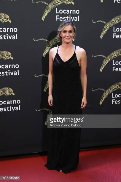 Lucia Mascino attends 'Amori che non sanno stare al mondo' screening during the 70th Locarno Film Festival on August 6 2017 in Locarno Switzerland