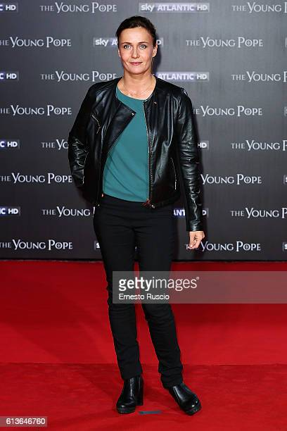 Lucia Mascino walks the red carpet at 'The Young Pope' premiere at The Space Cinema Moderno on October 9 2016 in Rome Italy